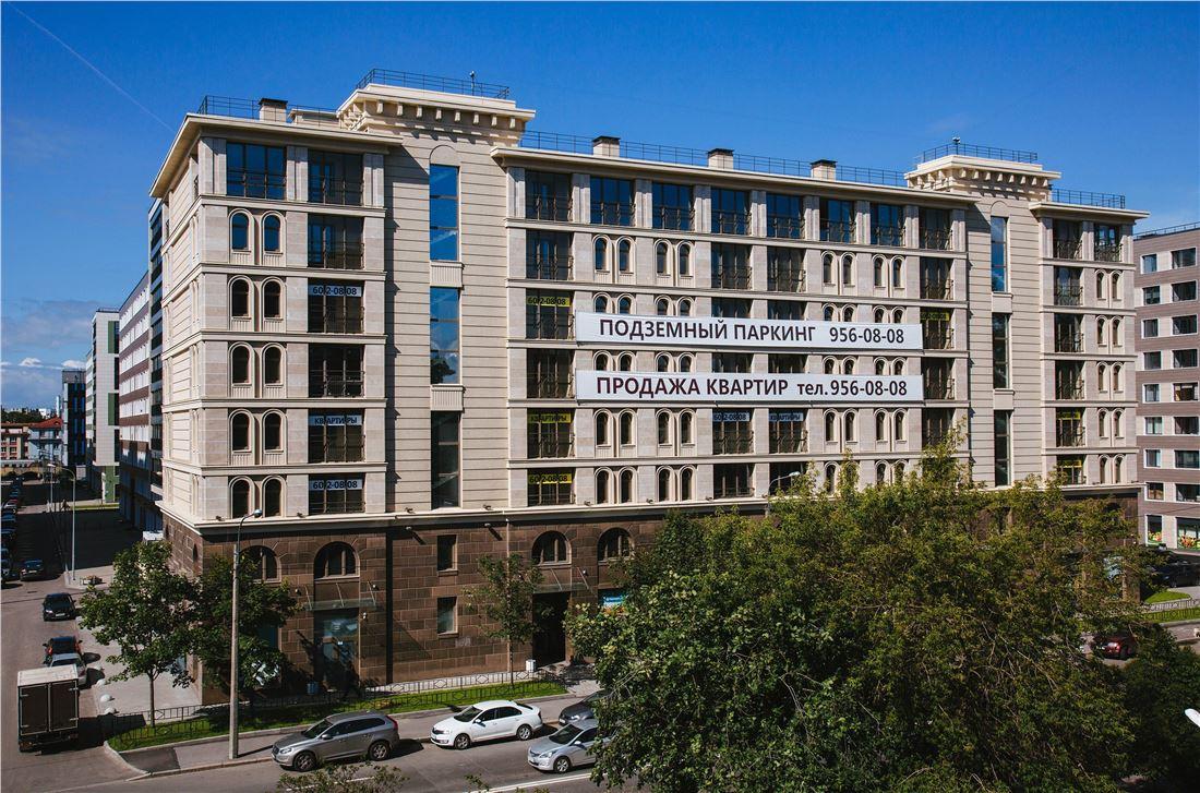 Планировка Однокомнатная квартира площадью 42.1 кв.м в ЖК «Николаевский ансамбль»